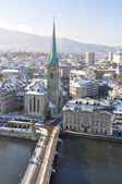 Winter view of Zurich — 图库照片