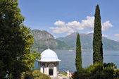Blick auf den comer see von villa monastero. italien — Stockfoto
