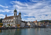 Jesuit church in Luzern — Stock Photo