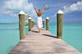 Plážovým výjevem. exuma, bahamy — Stock fotografie
