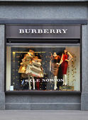 Burberry shop, a British luxury fashion house — Stock Photo