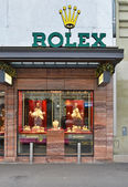 Rolex shop, well known for its luxury watches — Stock Photo