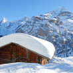 Murren skiing resort — Stock Photo