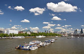 London across Thames river — Stock Photo