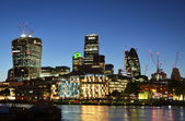 Cityscape of London at night — Stock Photo