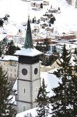 Winter view of Davos — Stockfoto