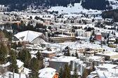 Vista de invierno de davos — Foto de Stock