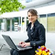 Woman with laptop — Foto de Stock   #12756481