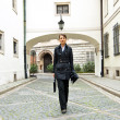 Stockfoto: Womwalk to work