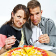 Couple on date in restaurant man and woman — Stock Photo