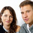 Couple on date in restaurant man and woman — Stockfoto
