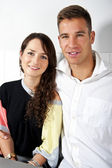 Couple on date in restaurant — Stock Photo