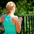 Stock Photo: Fit woman runner