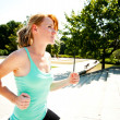 Young lady running — Stock Photo #30582447