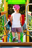 Little Girl first steps — Stock Photo