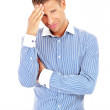 Business man having a stress. Headache. — Stock Photo