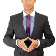 Handsome businessman full length portrait — Stock Photo #31660393