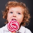 Child with lollipop — Foto Stock