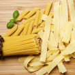 Close up on assortment of uncooked pasta — Stock Photo #40655537