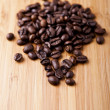 Close up coffe over wood background — Stock Photo