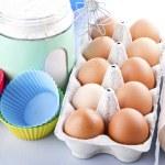 Flour, eggs and sugar — Stock Photo #41050765
