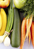Group of vegetables and fruit — Stock Photo