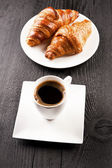 Cafe and croissant — Stock fotografie