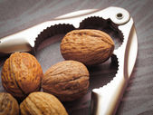 Nutcracker and Walnuts — 图库照片