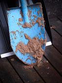 грязные лопата — Стоковое фото