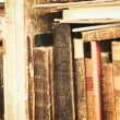 Foto de Stock  : Old Books on a Shelf