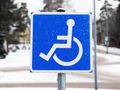 Disability Sign — Stock Photo