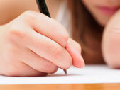 Child with a Pencil — Stock Photo