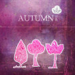 Autumn time - art background — Stock Photo