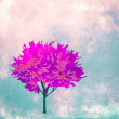 Silhouette of a tree- autumn - art illustration — Stock Photo