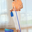 Young womdoing house work - housekeeping — Stock Photo #14075241
