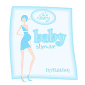 Baby shower - it's a boy — Stock Photo