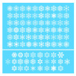 Snow flakes vector — Stockvektor