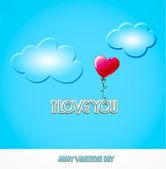 Valentijnsdag - ballon heart - illustratie — Stockfoto