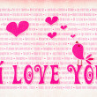Valentines day - I love You background — Stock Photo