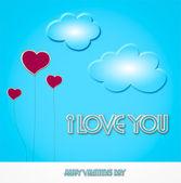 Dia dos namorados - coração balão - ilustração — Foto Stock