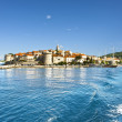 Town Korcula at Croatia - island — Stock Photo