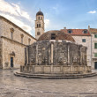 Dubrovnik Old Town, Big Onofrio's Fountain in Croatia. — Stock Photo