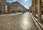 Street in the old town Dubrovnik, Croatia — Stock Photo