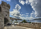 Old town Korcula at Croatia - harbor — Stockfoto