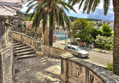 Old town Korcula at Croatia - harbor — Foto Stock