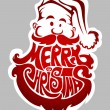 Merry Christmas. Santa Claus label — Imagen vectorial