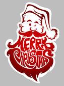 Mutlu Noeller. Noel Baba etiketi — Stok Vektör