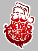 Merry Christmas. Santa Claus label — Stock Vector