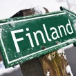 Finland road sign — Stock Photo #20759843