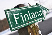 Finland road sign — Stockfoto
